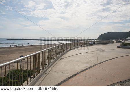 Boardwalk At Durban Beachfront Overlooking Bluff And Ocean