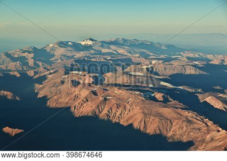 The View Of Andes Mountains From The Plane