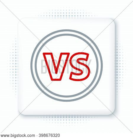 Line Vs Versus Battle Icon Isolated On White Background. Competition Vs Match Game, Martial Battle V