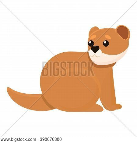 Scared Mink Icon. Cartoon Of Scared Mink Vector Icon For Web Design Isolated On White Background