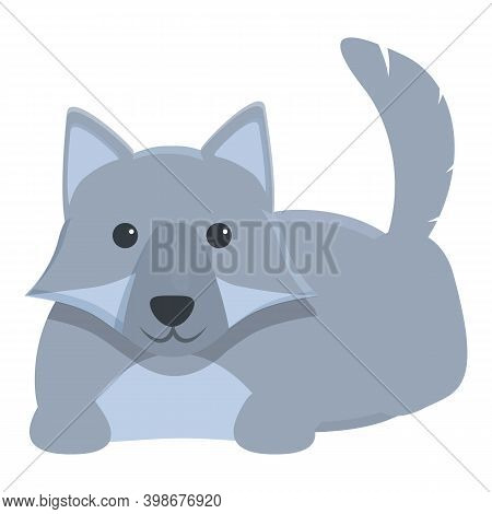Playful Wolf Icon. Cartoon Of Playful Wolf Vector Icon For Web Design Isolated On White Background