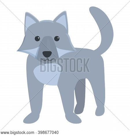 Zoo Wolf Icon. Cartoon Of Zoo Wolf Vector Icon For Web Design Isolated On White Background