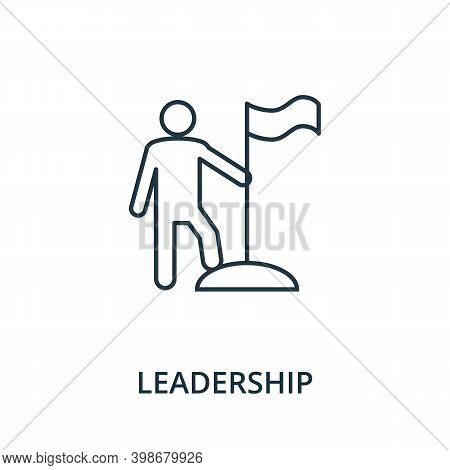 Leadership Icon. Line Style Element From Reputation Management Collection. Thin Leadership Icon For