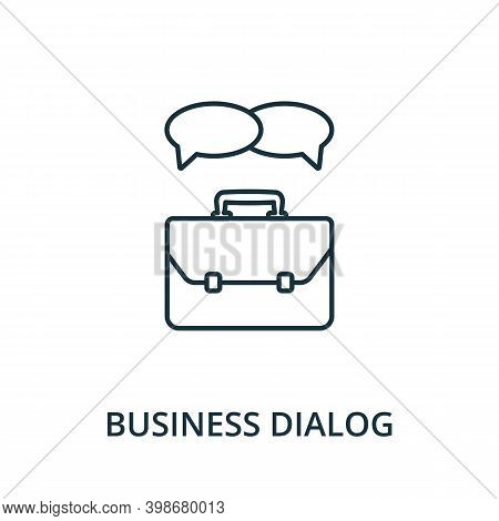 Business Dialog Icon. Line Style Element From Reputation Management Collection. Thin Business Dialog