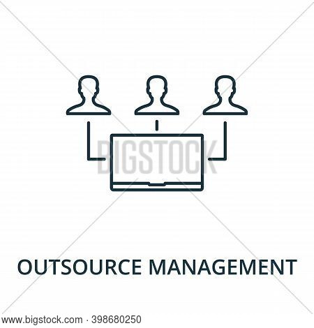 Outsource Management Icon. Line Style Element From Reputation Management Collection. Thin Outsource