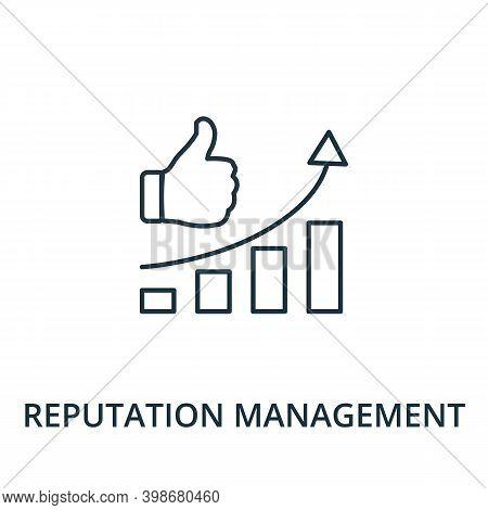 Reputation Management Icon. Line Style Element From Reputation Management Collection. Thin Reputatio