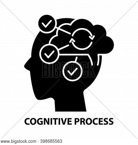 Cognitive Process Icon, Black Vector Sign With Editable Strokes, Concept Illustration