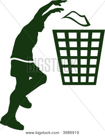 Cool Recycle Sign Basket Ball Player