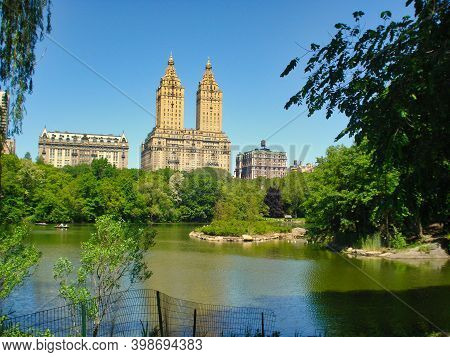 New York, United States, May 2008: View On El Dorado Apartment Building From Central Park, New York,