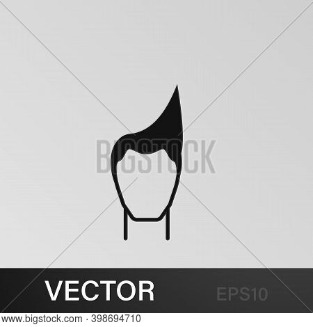 Male Hairstyle Icon.element Hairstyles Icon. Premium Quality Graphic Design. Signs, Symbols Collecti