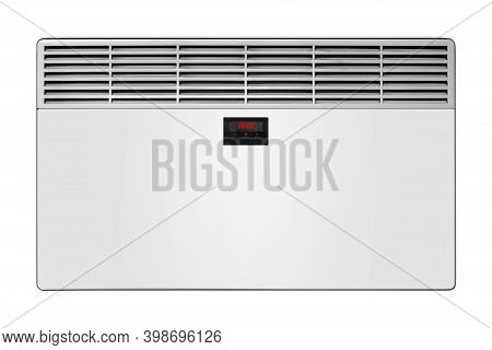 Home Appliance - Electric Convection Heater With Display On A White Background. Isolated