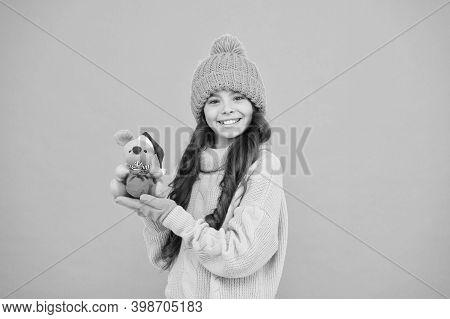 Plush Toy. 2020 Rat Year. It Has Characteristics Of Animal With Spirit Wit Alertness Delicacy Flexib