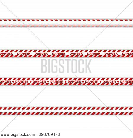 Red Stripes. Barricade Tape, Do Not Cross, Police, Crime Danger Line, Bright Yellow Official Crime S