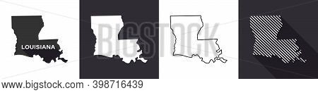 State Of Louisiana. Map Of Louisiana. United States Of America Louisiana. State Maps. Vector Illustr