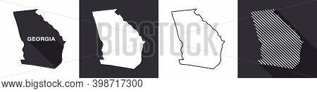 State Of Georgia. Map Of Georgia. United States Of America Georgia. State Maps. Vector Illustration