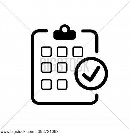 Calendar With Check Mark. Check, Checklist. Vector Illustration
