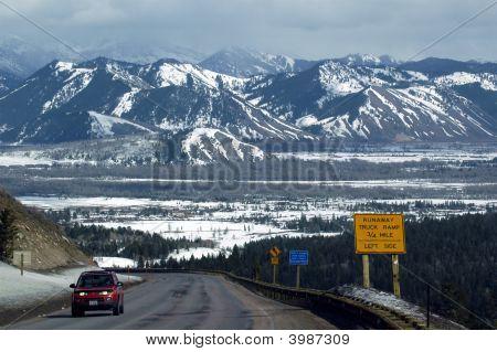 Steep Grade Into Jackson Hole