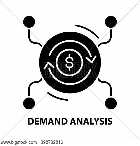 Demand Analysis Sign Icon, Black Vector Sign With Editable Strokes, Concept Illustration