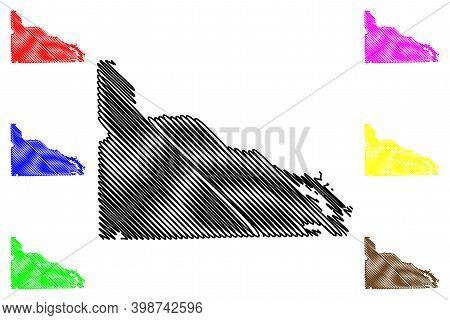 Presque Isle County, Michigan (u.s. County, United States Of America, Usa, U.s., Us) Map Vector Illu