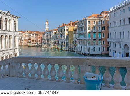 Houses At Grand Canal Venice View From Rialto Bridge