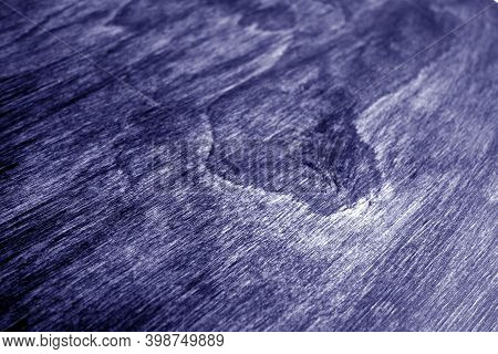 Wooden Board Texture With Blur Effect In Blue Tone. Abstract Background And Texture For Design.