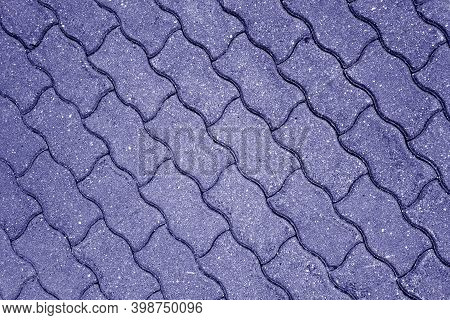Stone Pavement Surface In Blue Tone. Abstract Background And Texture For Design.