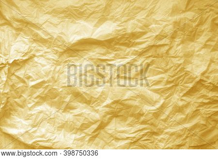 Crumpled Paper Sheet Surface. Abstract Background For Design.