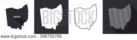 State Of Ohio. Map Of Ohio. United States Of America Ohio. State Maps. Vector Illustration