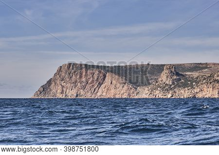 Seascape. Colorful Kaya-bash Heights, Westernmost Segment Of Main Ridge Of Crimean Mountains. Cliffs