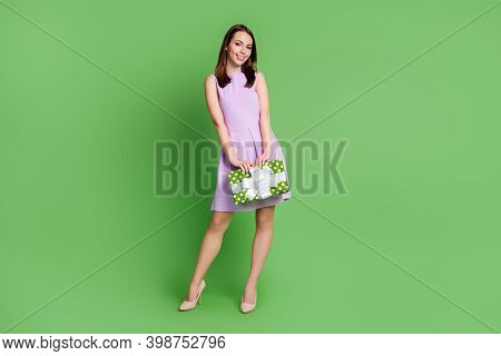 Full Length Body Size View Of Her She Nice-looking Attractive Pretty Elegant Cheerful Cheery Girl Ho