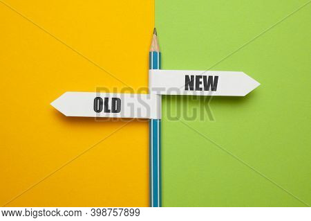 Pencil - Direction Indicator - Choice Of Old Or New Way. Progress And New Opportunities, Motivation