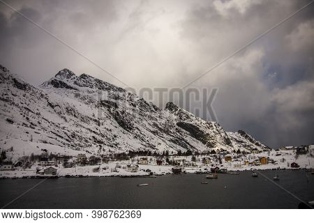 Winter In Reine, Lofoten Islands, Northern Norway