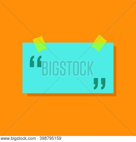 Testimonial Template Review With Quote Creative Design Blank. Vector Testimonial Illustration Concep