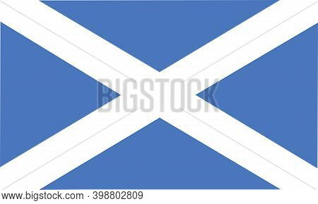 Flag Of Scotland. Saint Andrew Cross. , European Country Flag.
