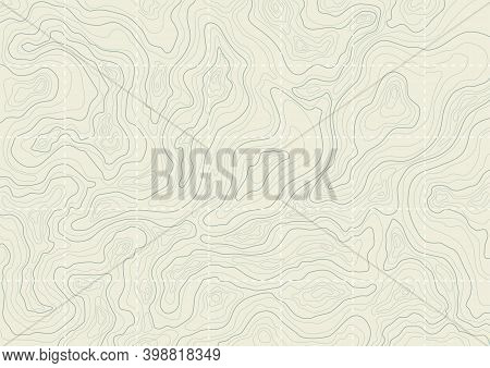 Topographic Map Background Concept. Monochrome Topographic Background Pattern With Topographic Or Is