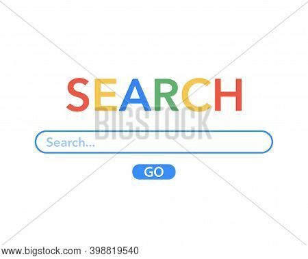 Vector Element Search Bar Site, Search Engine Template