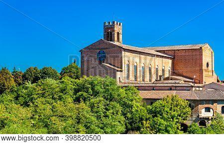 The Basilica Of San Domenico In Siena. Unesco World Heritage In Tuscany, Italy
