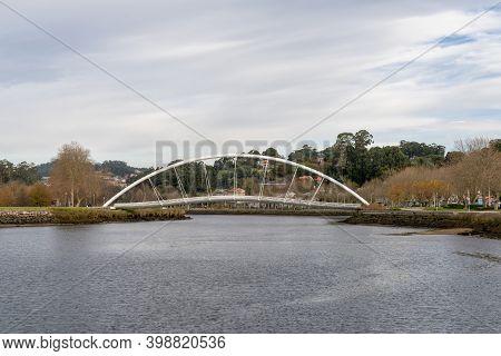 The Rue Celso Emilio Ferreira Footbridge Over The Pontevedra River In Galicia