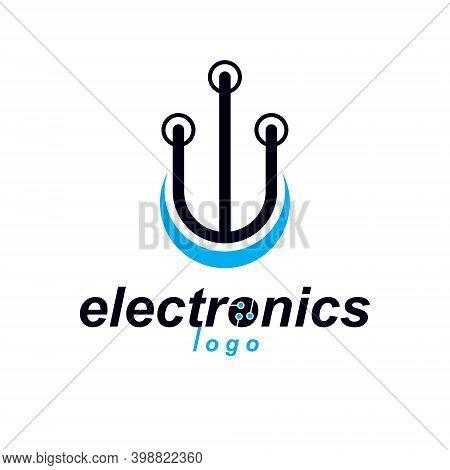 Futuristic Cybernetic Vector Motherboard. Digital Element, Circuit Board. Microprocessor Scheme Abst