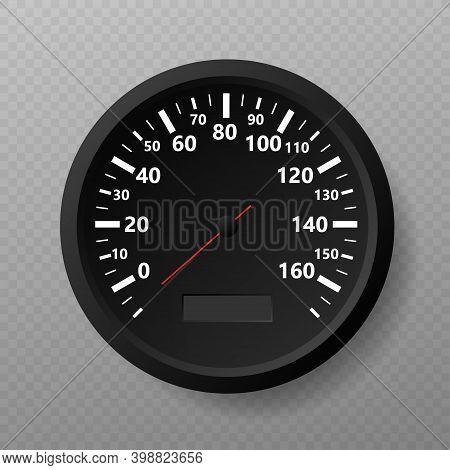 Speedometer. Kilometers Per Hour. Vector Stock Illustration.