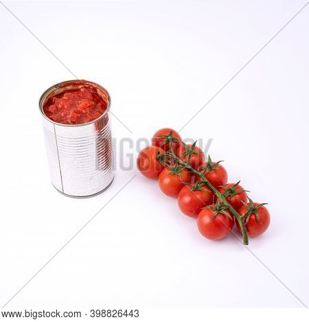 The Transition From Fruit To Tomato Sauce In A Tin Can