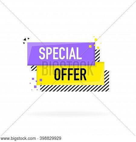 Special Offer Banner. Discount Tag, App Icon.