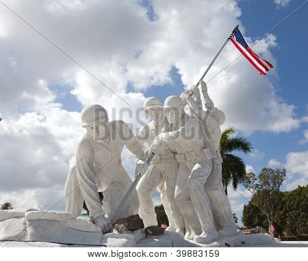 Statue of marines at Iwo Jima in Ft. Myers Fl poster