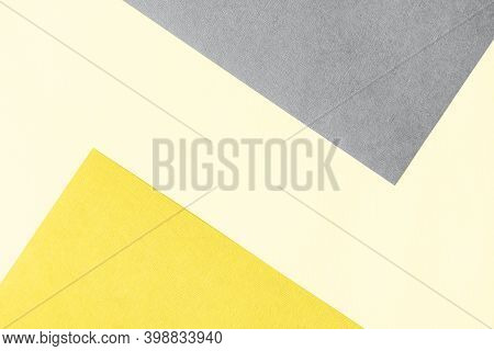 Paper For Pastel Overlap In Trendy Yellow And Grey Colors For Background, Banner, Presentation Templ