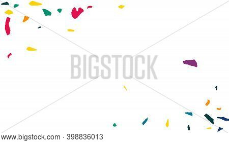 Yellow Paint Independence White Background. Celebrate Elements Backdrop. Carnaval Particles Backgrou