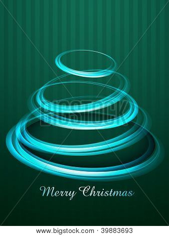 poster of creative style vector christmas tree design
