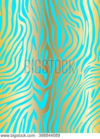 Vector Animal Print. Zebra Ornament. Seamless Pattern. Black Stripes. Tiger Or Animal Print. Zebra O
