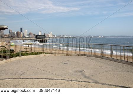 View Of Hotels And Residential Buildings On Durban's Beachfront