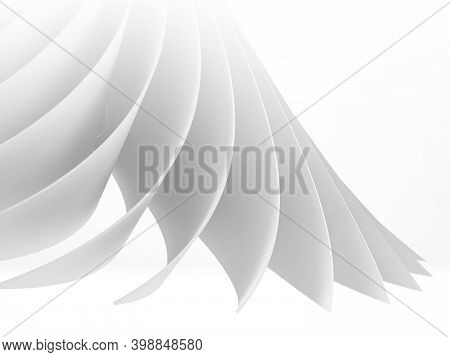 Abstract White Cgi Background, 3d Rendering Illustration