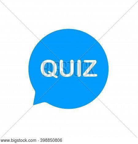 Quiz. Sticker For Social Media Content. Search Buuble Quiz.